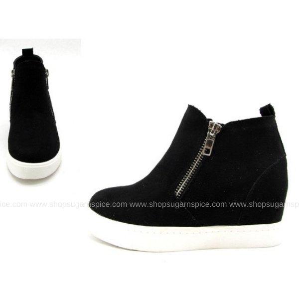 BLACK TAYLOR KIDS WEDGE SNEAKER