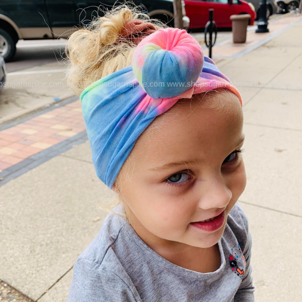 TIE DYE TOP KNOT HEADWRAP