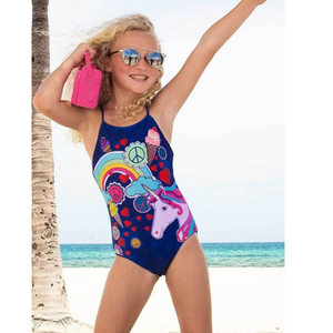 JULIETTE REVERSIBLE UNICORN HEART ONE PIECE