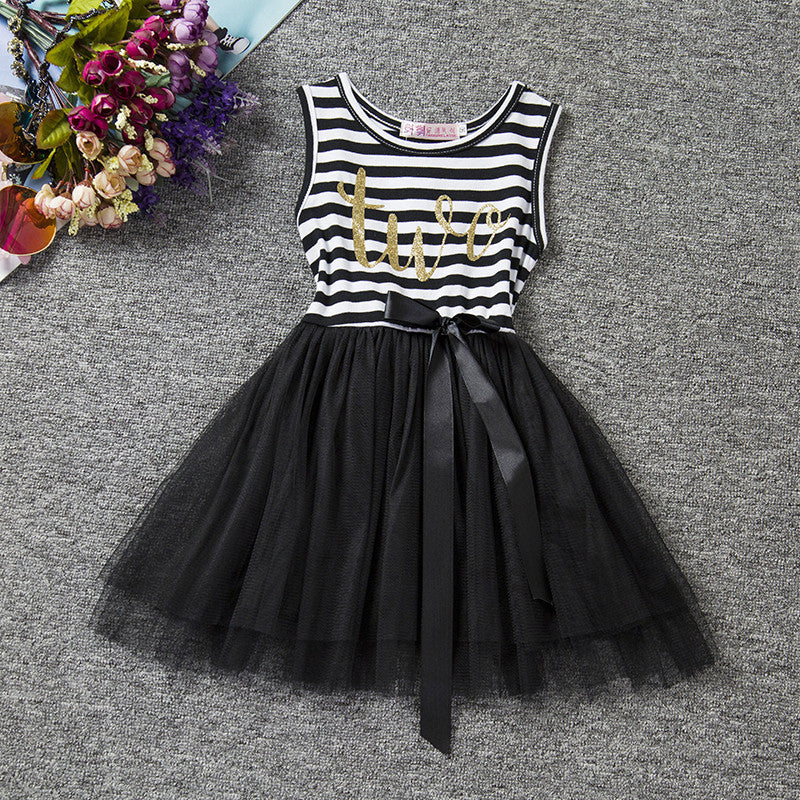 BLACK TWO BIRTHDAY DRESS