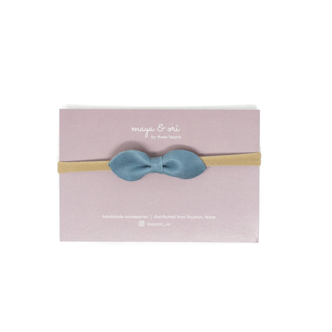 eva leather headband teal