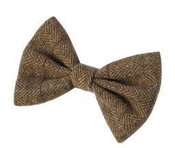 House of Paws Brown Tweed Bow Tie