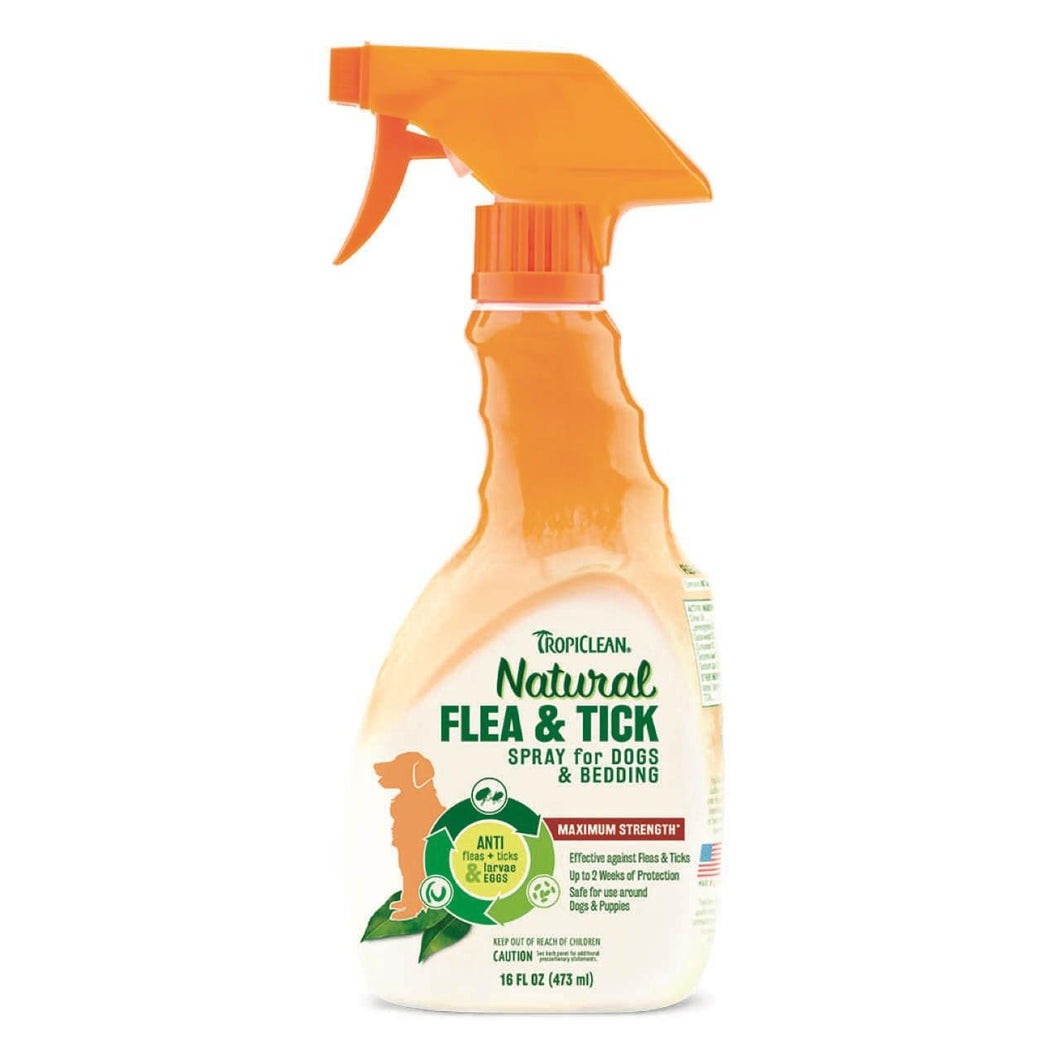 TropiClean Flea & Tick Spray for Dogs and Bedding