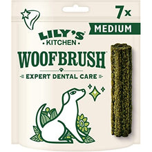 Load image into Gallery viewer, Lily's Kitchen Woofbrush Natural Dental Medium Breed Adult Dog Chews 7 Pack