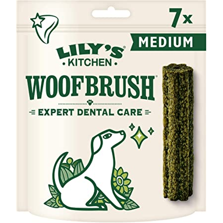 Lily's Kitchen Woofbrush Natural Dental Medium Breed Adult Dog Chews 7 Pack