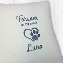 Load image into Gallery viewer, Personalised Dog Keepsake Cushion