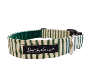 Green Striped PJ's Collar