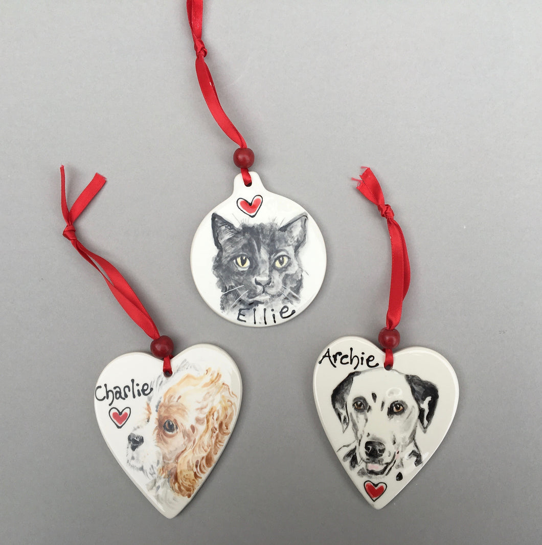 Hanging Pet Portrait Decoration