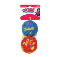 Load image into Gallery viewer, Kong Occasions Birthday Balls 2-pack Size Medium