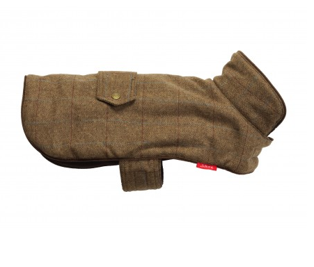 House Of Paws Brown Tweed Dog Coat - Large