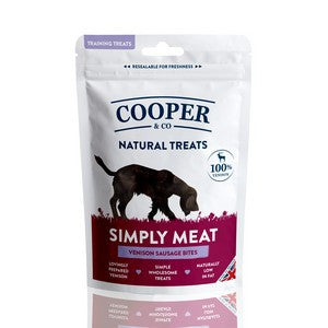 Cooper & Co Natural Treats Venison Sausage Bites 100g