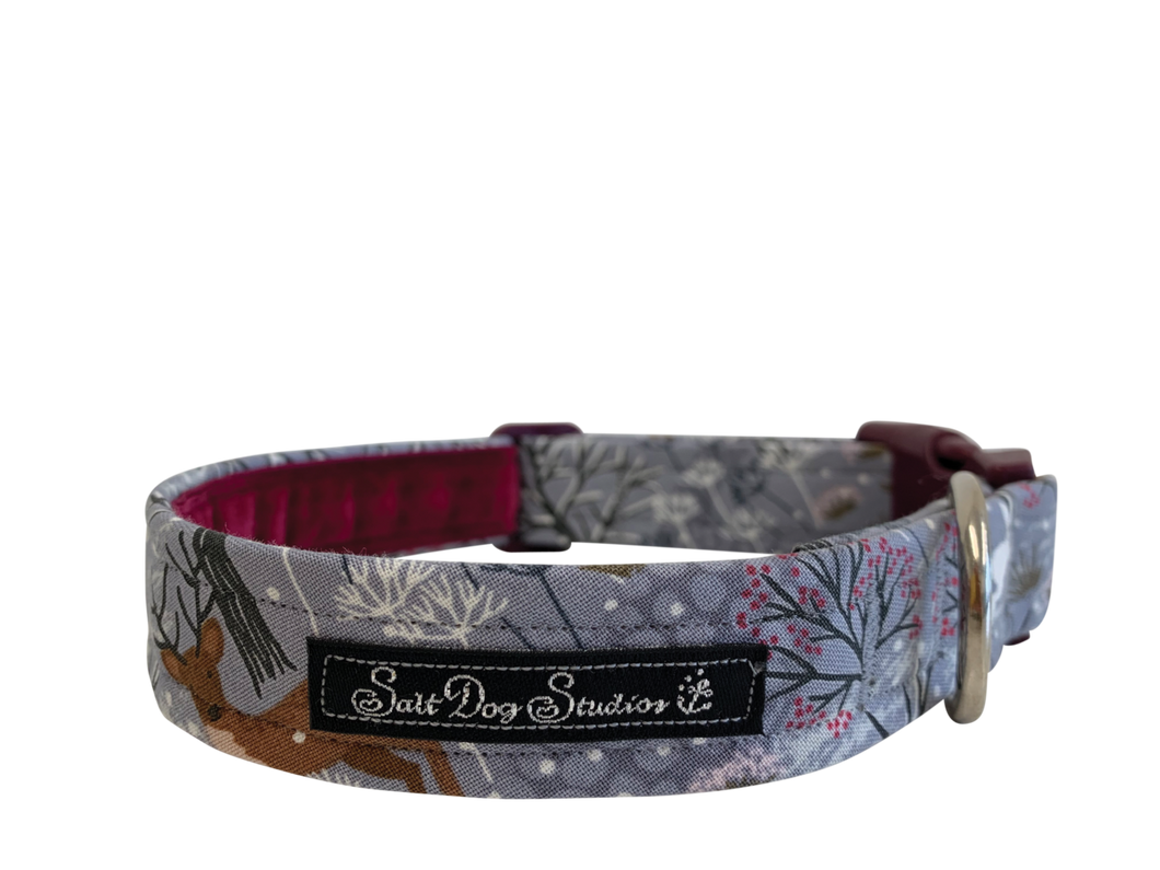 Whimsical Winter Dog Collar