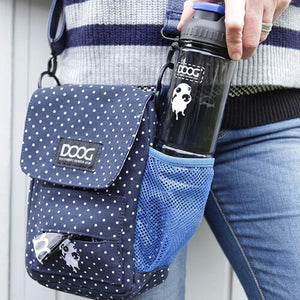 DOOG - Walkie Bag, Navy & White Polka Dot