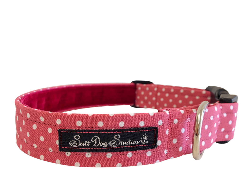 Pink Polka Dot Dolly Collar