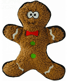 Load image into Gallery viewer, Holly & Robin Christmas Crinkles Gingerbread Man Plush Dog Toy,Brown