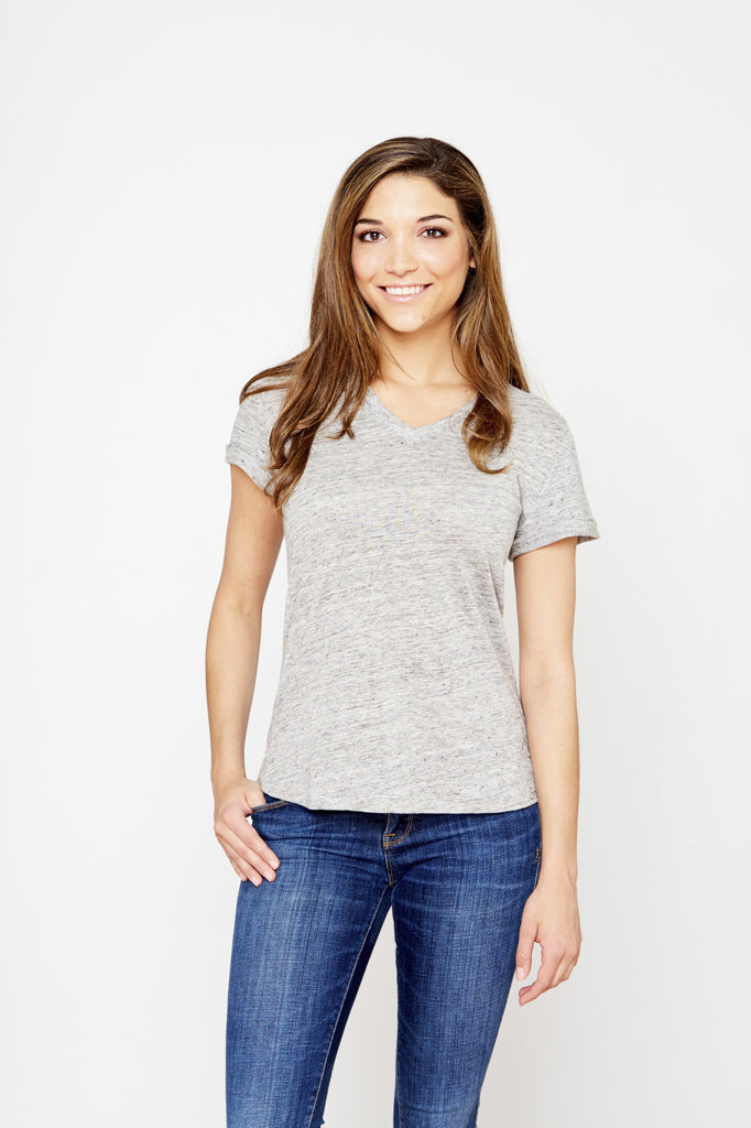 Linen Nauset Tee - Heather Ash