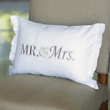 Load image into Gallery viewer, Mr & Mrs Linen Decor Pillow
