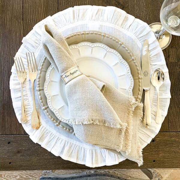 Round Ruffled Placemats