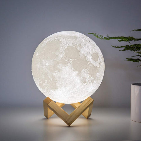 Moon Lamp, 7 Colour Light Rechargeable Battery