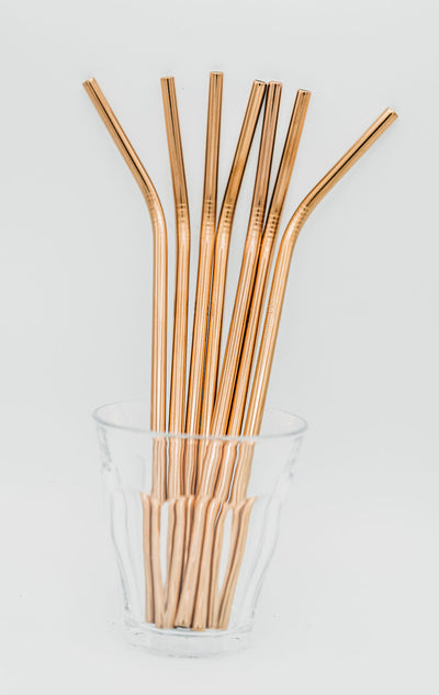 Stainless Steel Straws (rose gold) - REssentials