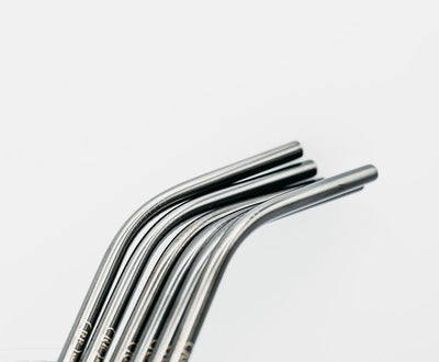 Stainless Steel Straws (Silver) - REssentials