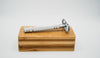Double Edge Safety Razor (with 5 blades and bamboo case/stand) - REblade