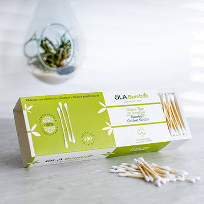 Bamboo cotton swabs - Box of 400
