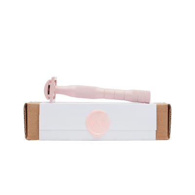 Solid Brass Safety Razor - Dusty Rose - well kept