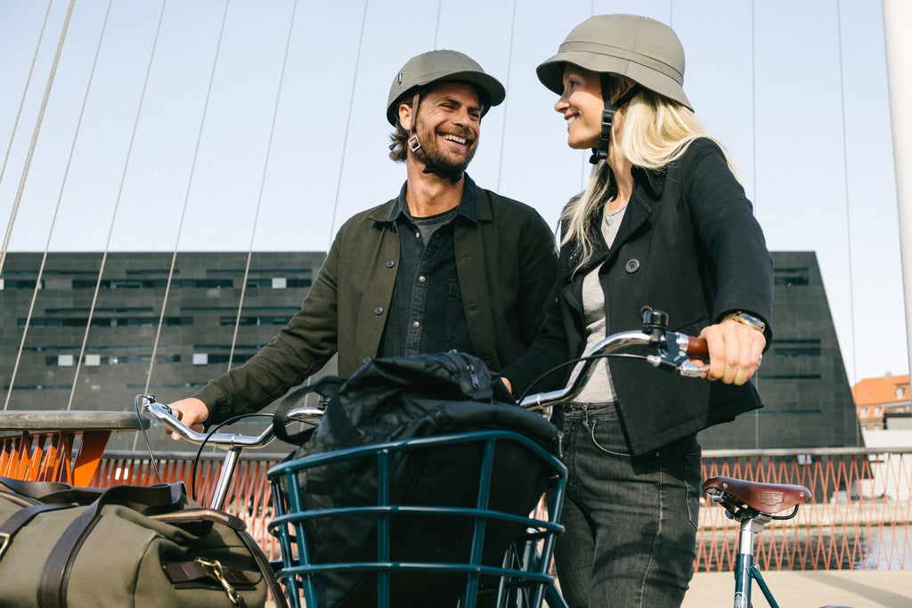 YAKKAY Paris New York and Tokyo Love covers for bicycle helmets. The Danish Royal Library, Copenhagen Harbour.