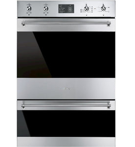 SMEG 60CM PYROLYTIC STAINLESS STEEL DOUBLE BUILT-IN OVEN