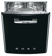 Load image into Gallery viewer, SMEG 50S STYLE DISHWASHER BLACK