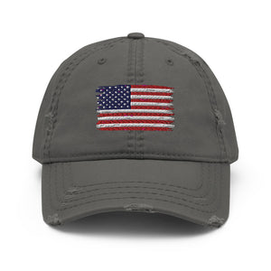American Flag Distressed Dad Hat
