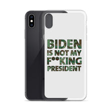 Charger l'image dans la galerie, Biden Is Not My F**KING President Camouflage iPhone Case