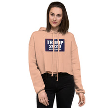 Load image into Gallery viewer, TRUMP 2020 MF Women's Cropped Hoodie - Real Tina 40