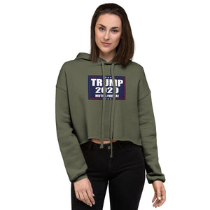 TRUMP 2020 MF Women's Cropped Hoodie - Real Tina 40
