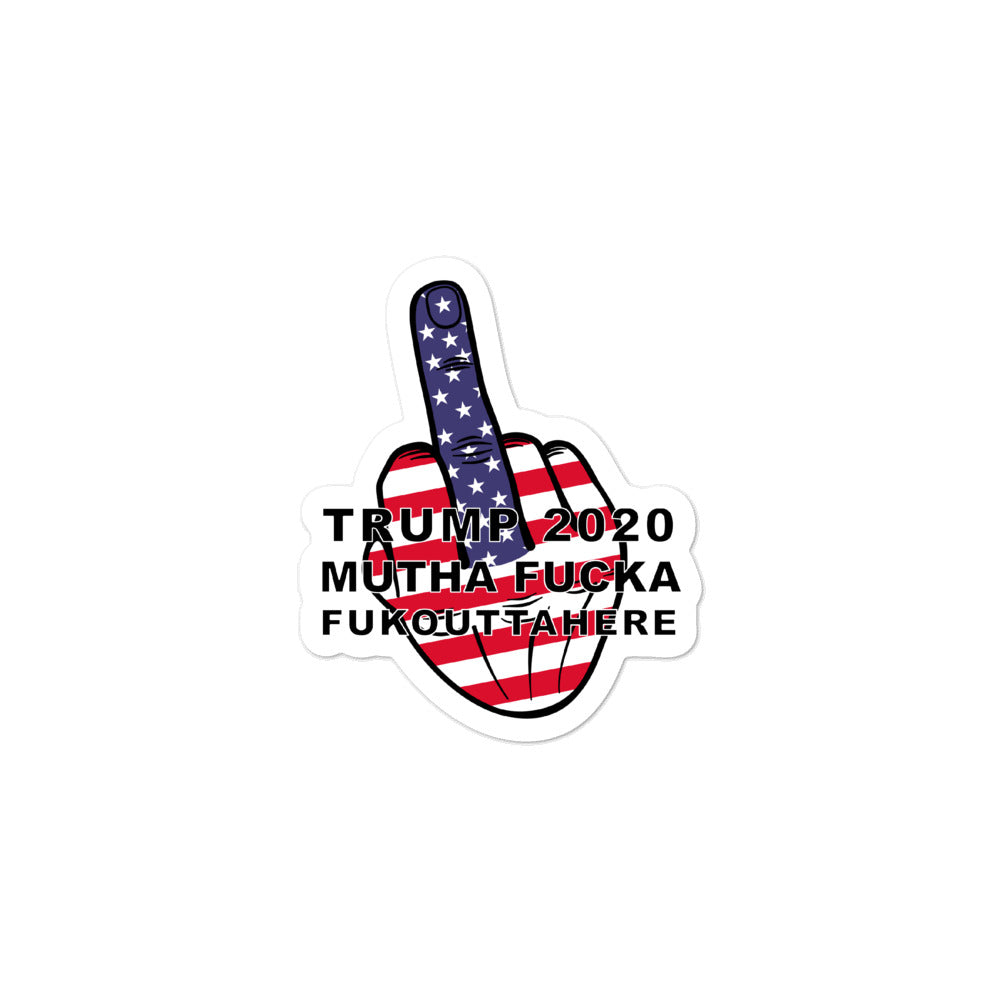 TRUMP 2020 MF FOH Middle Finger Sticker