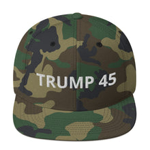 Load image into Gallery viewer, TRUMP 45 Snapback Hat - Real Tina 40