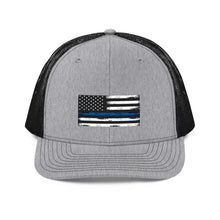 Load image into Gallery viewer, Thin blue line Trucker Cap