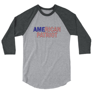 American Patriot (USA) 3/4 sleeve raglan shirt