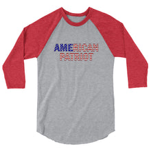 Load image into Gallery viewer, American Patriot (USA) 3/4 sleeve raglan shirt