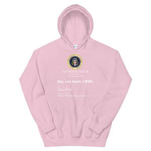 Joe you know I won Unisex Hoodie