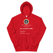 Load image into Gallery viewer, Joe you know I won Unisex Hoodie