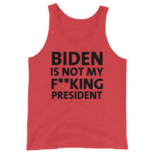 Load image into Gallery viewer, Biden is not my F**king President Unisex Tank Top