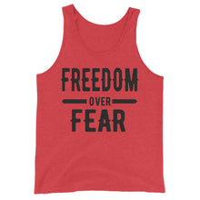 Load image into Gallery viewer, Freedom over Fear Unisex Tank Top