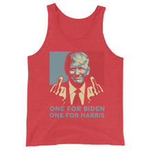 Load image into Gallery viewer, Trump Middle Finger Unisex Tank Top