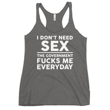 Charger l'image dans la galerie, Government F**ks Me Everyday Women's Racerback Tank