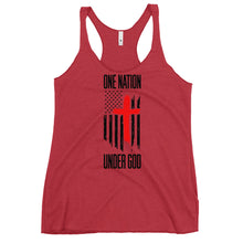 Charger l'image dans la galerie, One nation under god Women's Racerback Tank