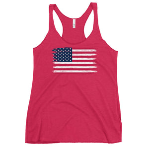 Weathered Flag Women's Racerback Tank