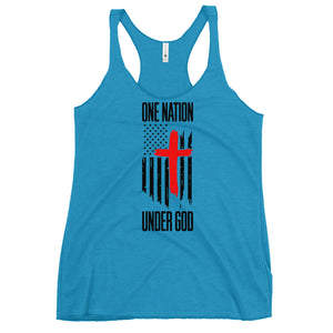 One nation under god Women's Racerback Tank