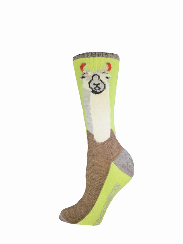 Alpaca Caricature Socks